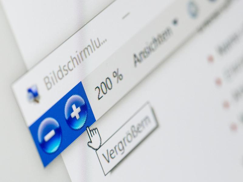 Bild zu Windows-Bildschirmlupe