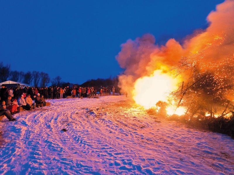 Bild zu Biikebrennen in Nordfriesland