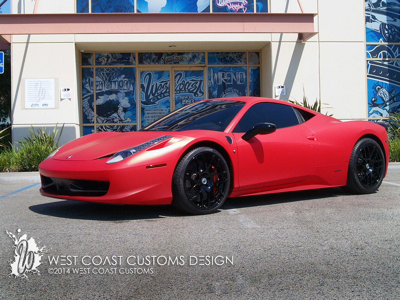Bild zu Matte Red Chrome 458