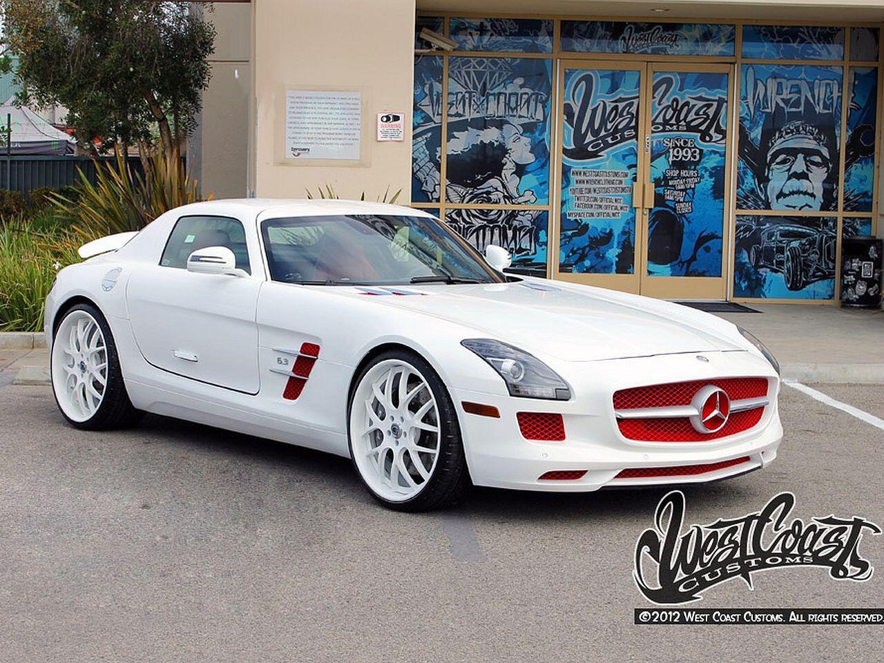 Bild zu Mercedes SLS von Rapper Tyga