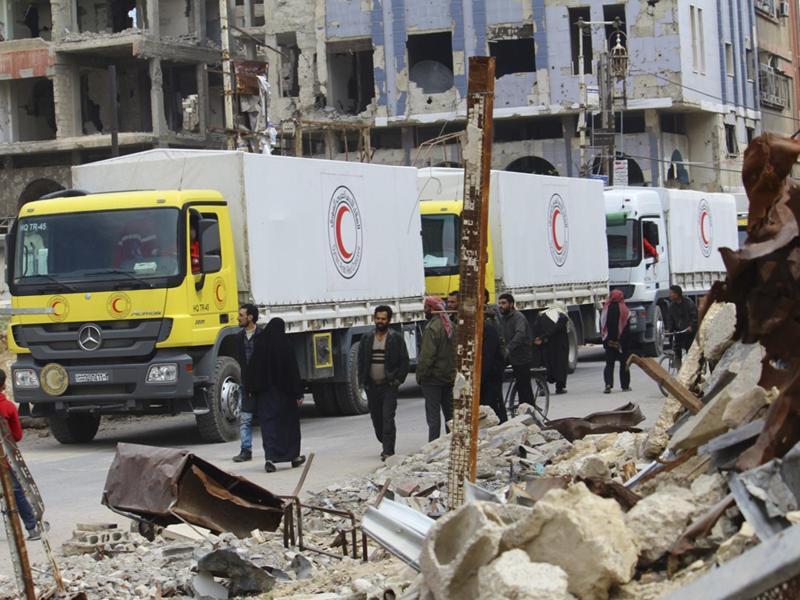 Bild zu Transport von Hilfsgütern