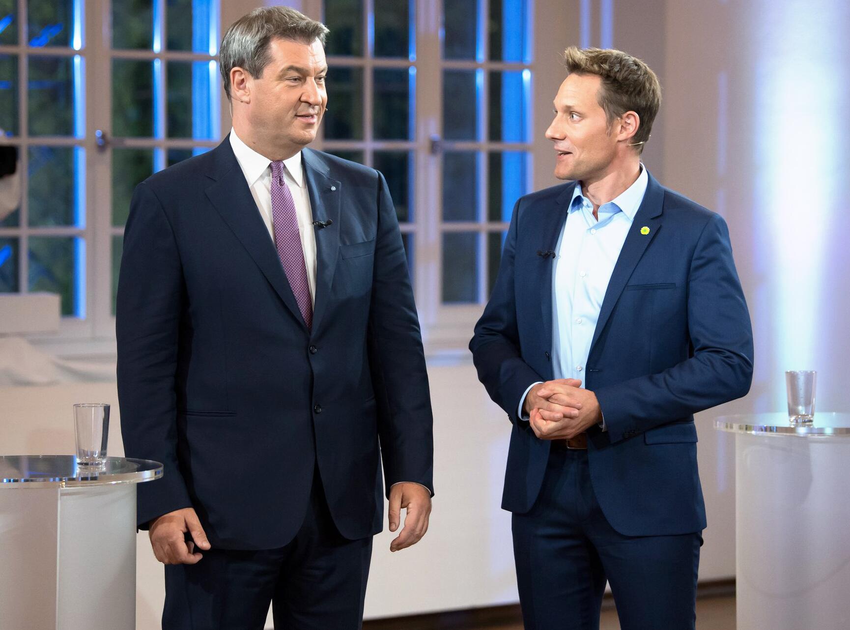 bild zu tv duell zur landtagswahl markus sder ludwig hartmann - Markus Soder Lebenslauf