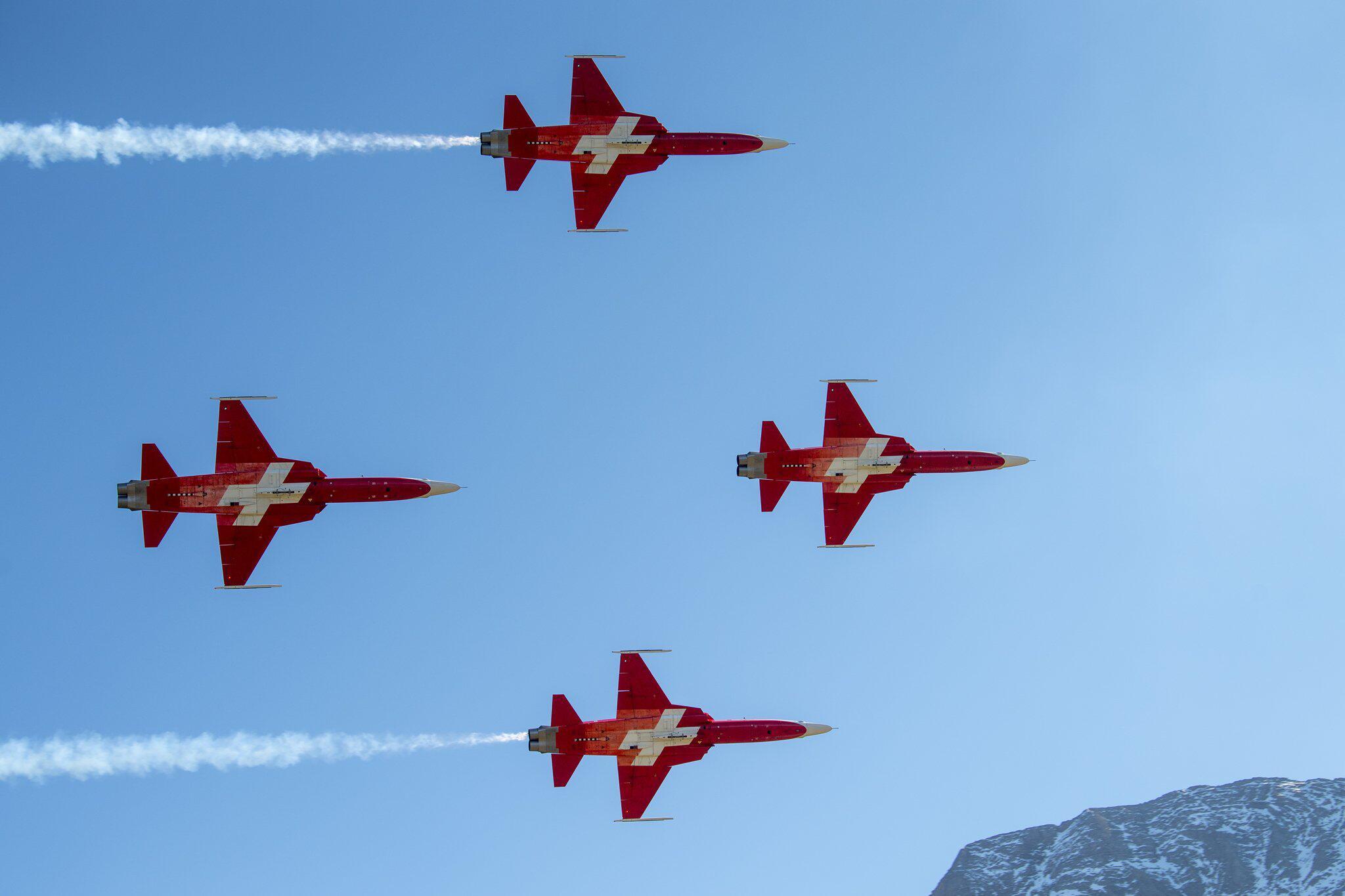 Bild zu Kunstflieger der Schweizer Luftwaffe