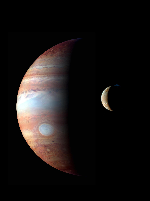 Bild zu Jupiter und sein Mond Io