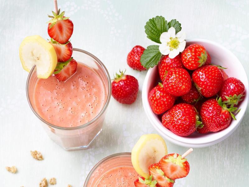 Bild zu Erdbeer-Banane-Smoothie