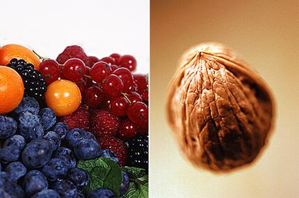 Beeren und Nüsse