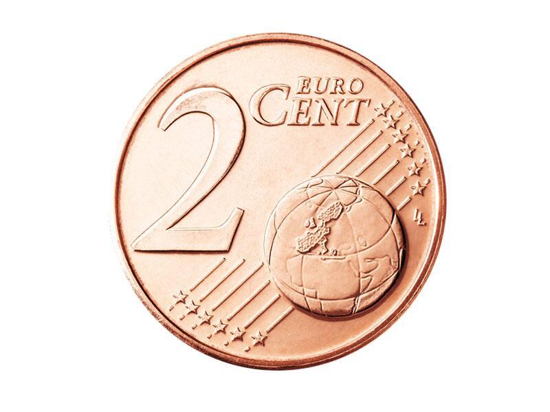 Bild zu Die Vorderseite der 2-Cent-Münze