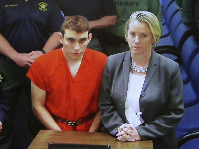 Bild zu Attentäter Nikolas Cruz während der Anhörung