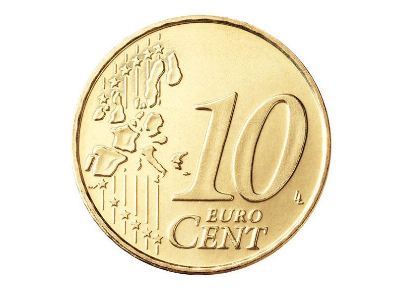 Bild zu Die Vorderseite der 10-Cent-Münze