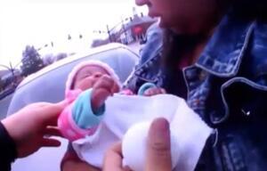 Atemstillstand: Polizisten retten Baby in letzter Minute