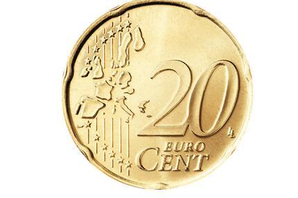 Die Vorderseite der 20-Cent-Münze
