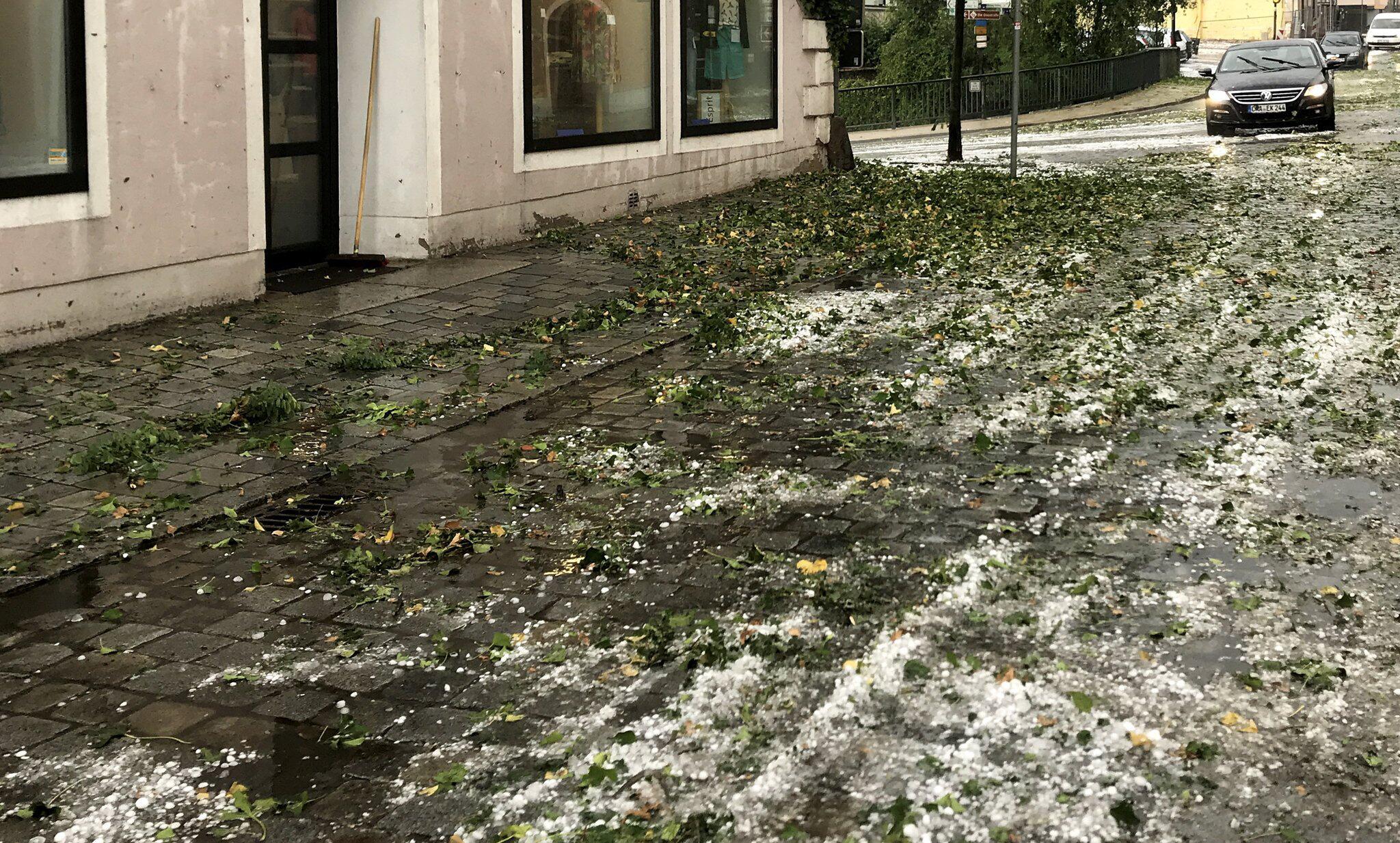 Bild zu Unwetterschäden in Bayern