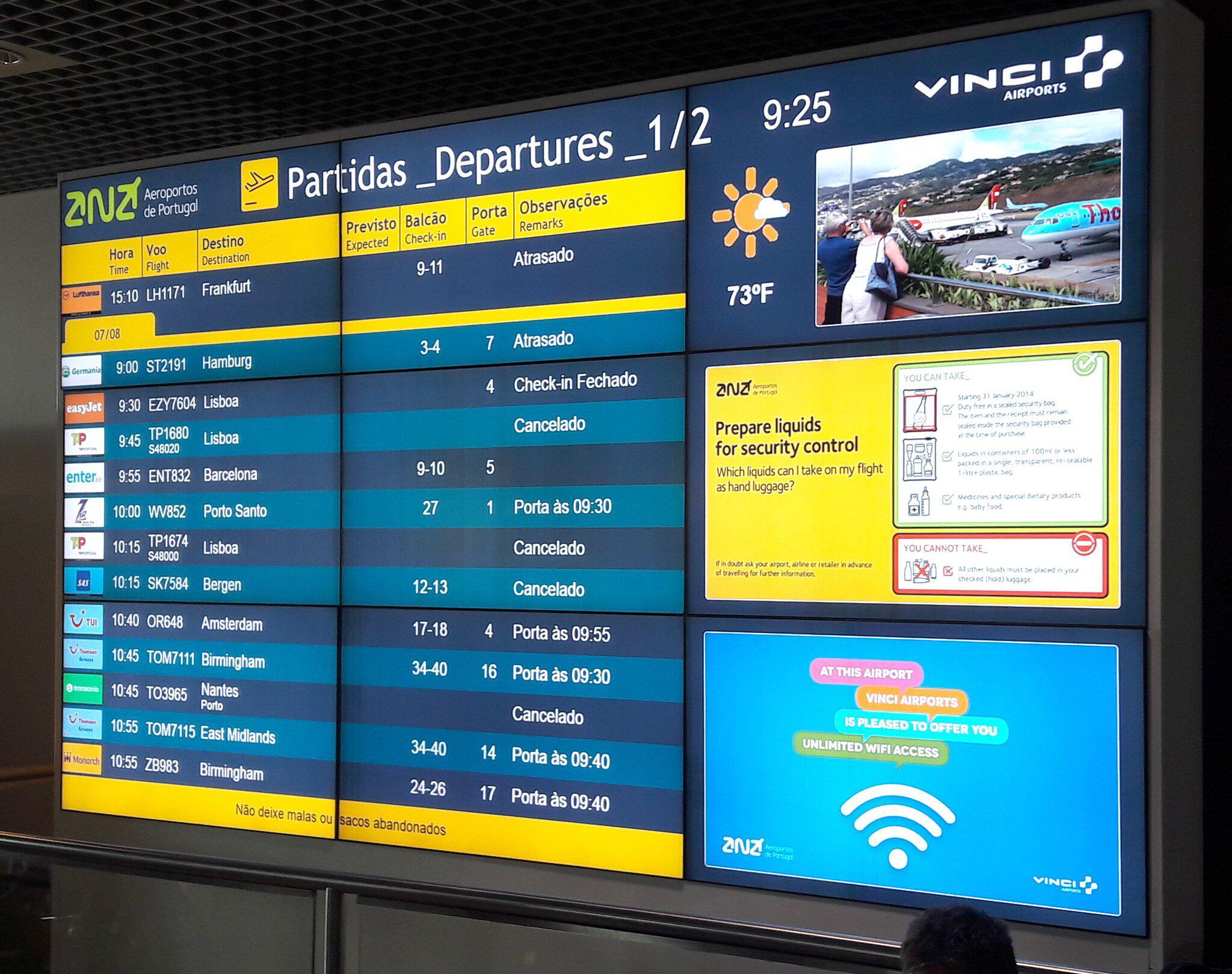 Bild zu Heftige Winde - Flughafen Madeira streicht Flüge