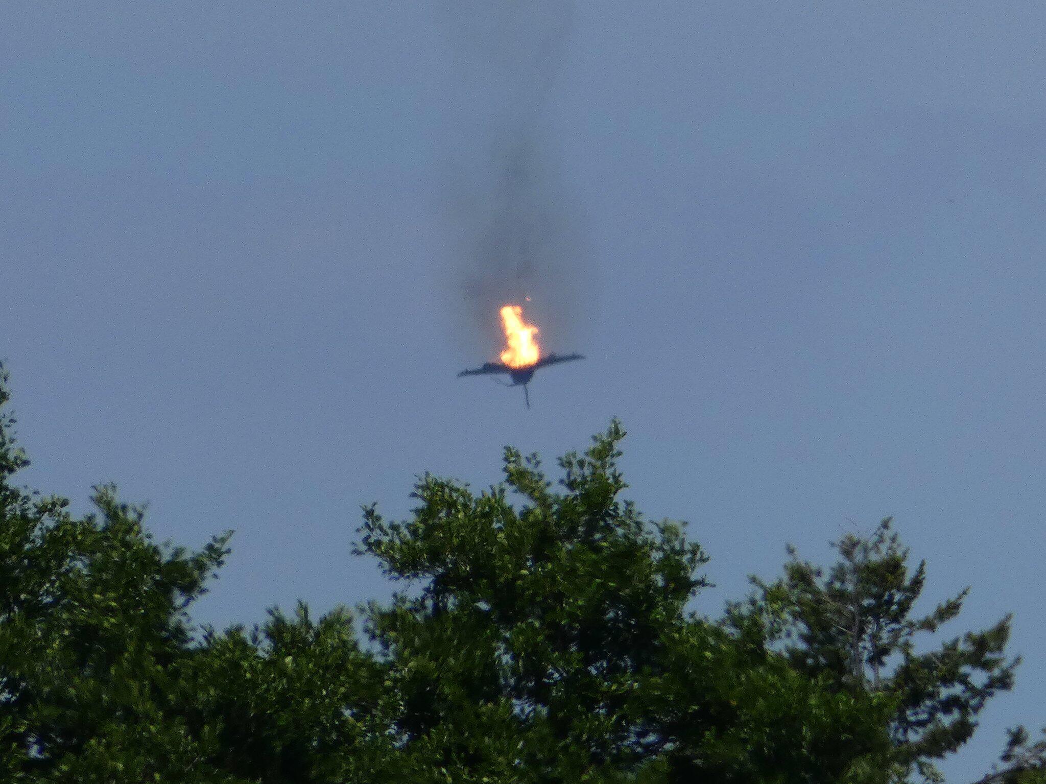 Bild zu Two Eurofighters crash in Germany