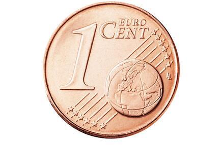 Die Vorderseite der 1-Cent-Münze