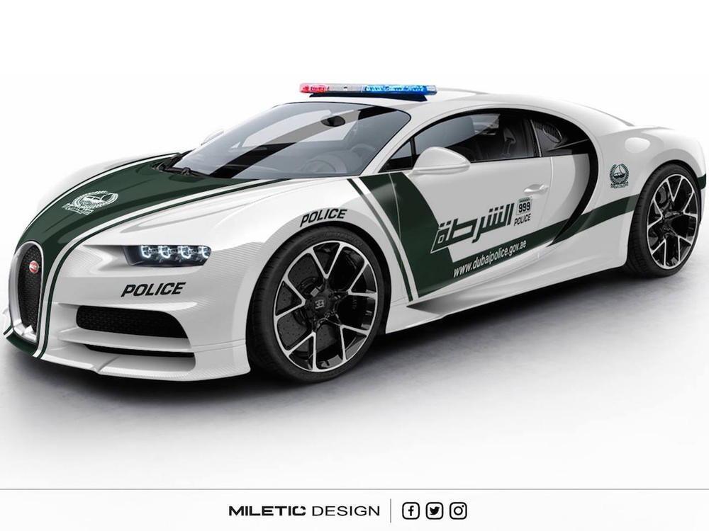 Bild zu Bugatti Chiron Dubai Police