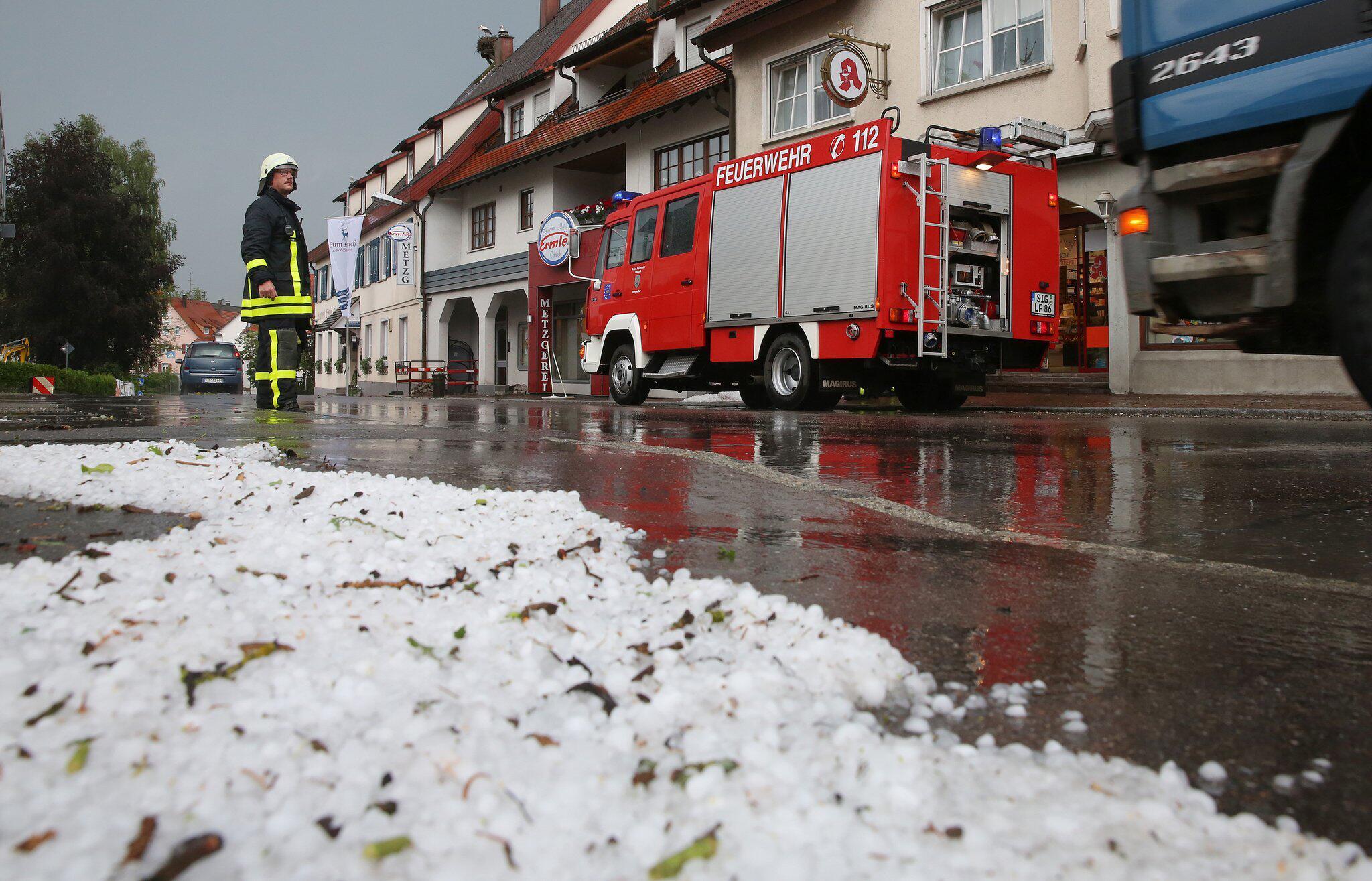 Bild zu Unwetter in Ostrach