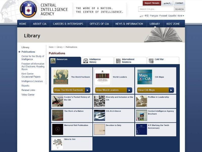 Bild zu Bibliothek der CIA