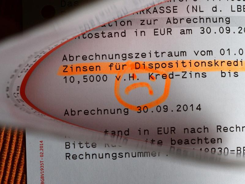 Bild zu Zinsen für Dispositionskredit