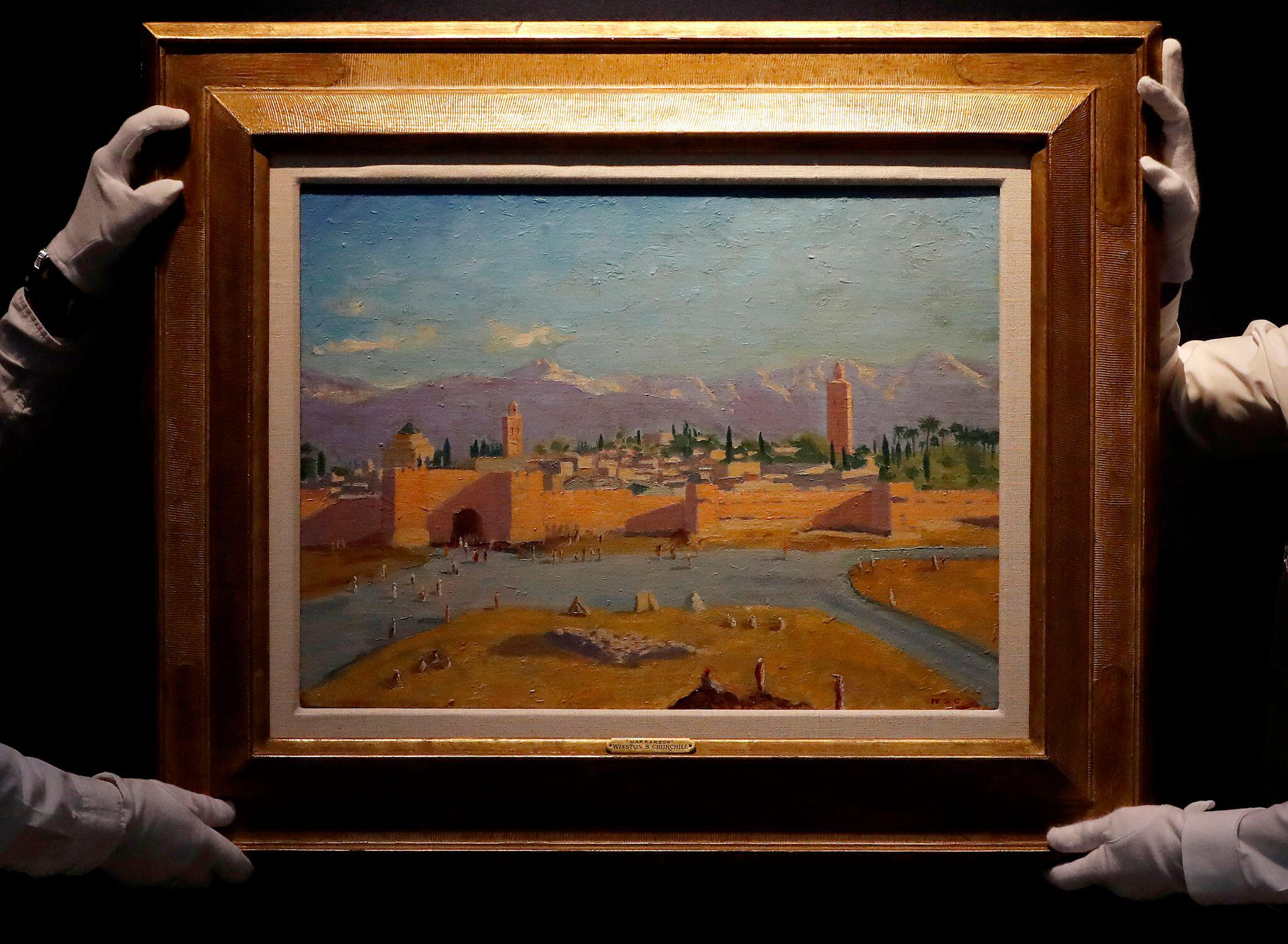 Bild zu Kunstwerk von Churchill für mehr als acht Millionen Pfund versteigert