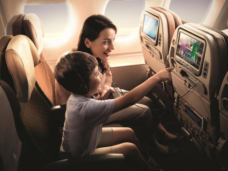 Bild zu Flug-Entertainment für Kinder