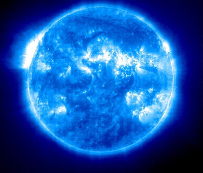 Bild zu Kernreaktionen im Inneren der Sonne