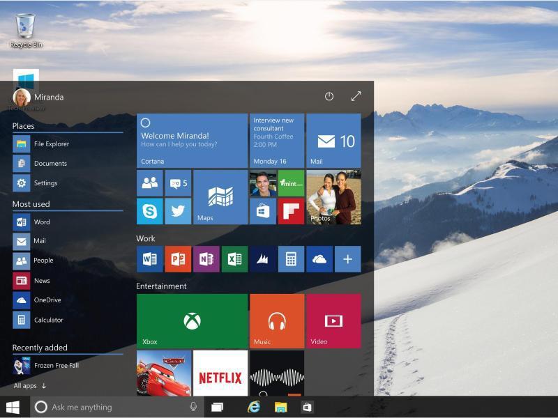 Bild zu Das neue Windows 10