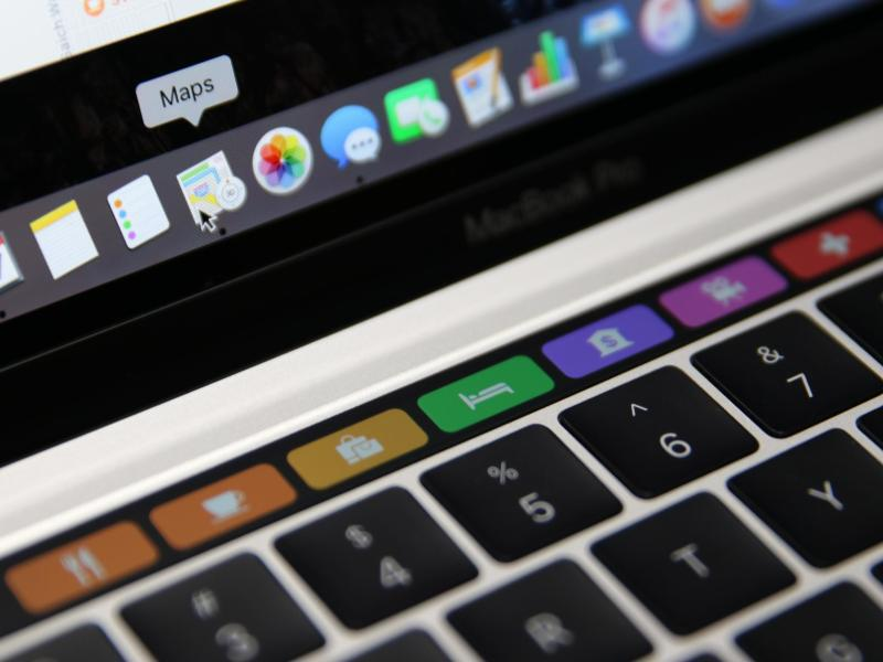 Bild zu Touch Bar des MacBook Pro