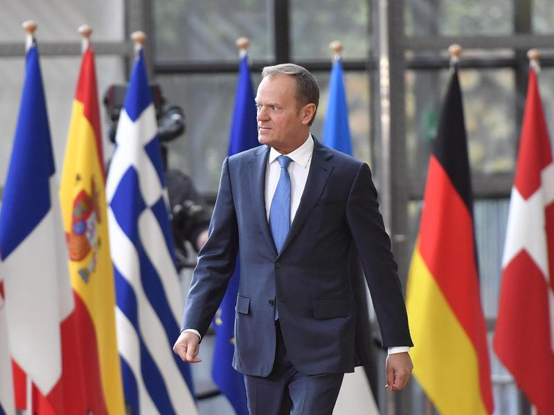 Bild zu EU-Ratspräsident Donald Tusk in Brüssel
