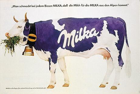 Bild zu Milka Werbung