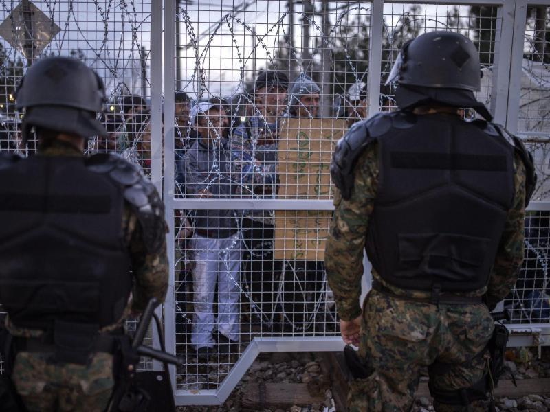 Bild zu Grenzsicherung in Mazedonien