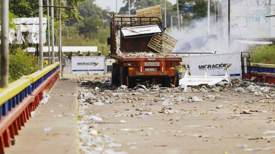 Politische Krise in Venezuela - Grenze zu Kolumbien