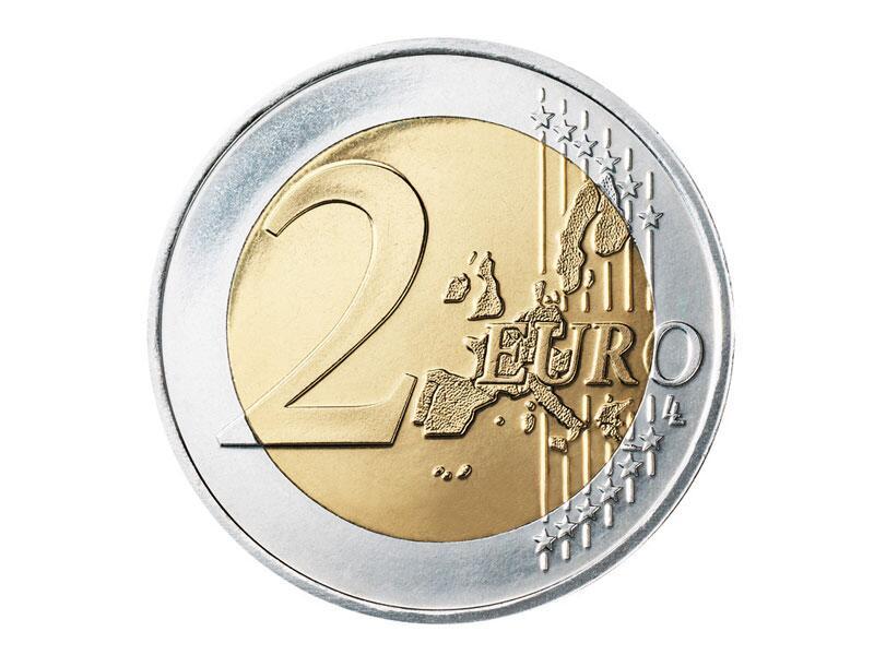 Bild zu Die Vorderseite der 2-Euro-Münze