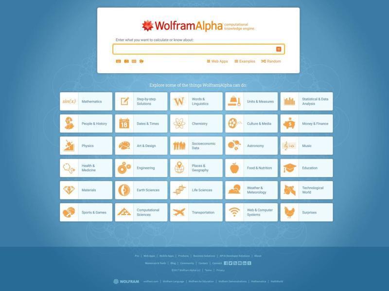 Bild zu Wolfram Alpha