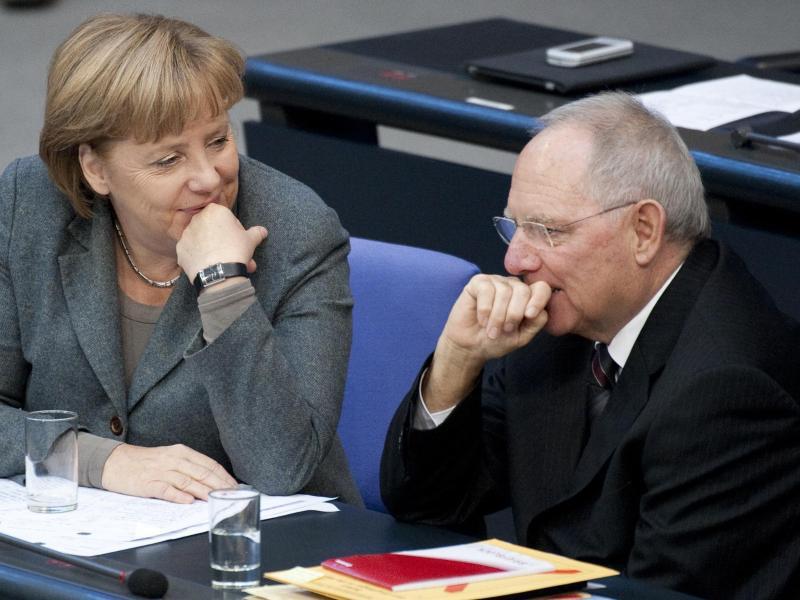 Bild zu Merkel und Schäuble