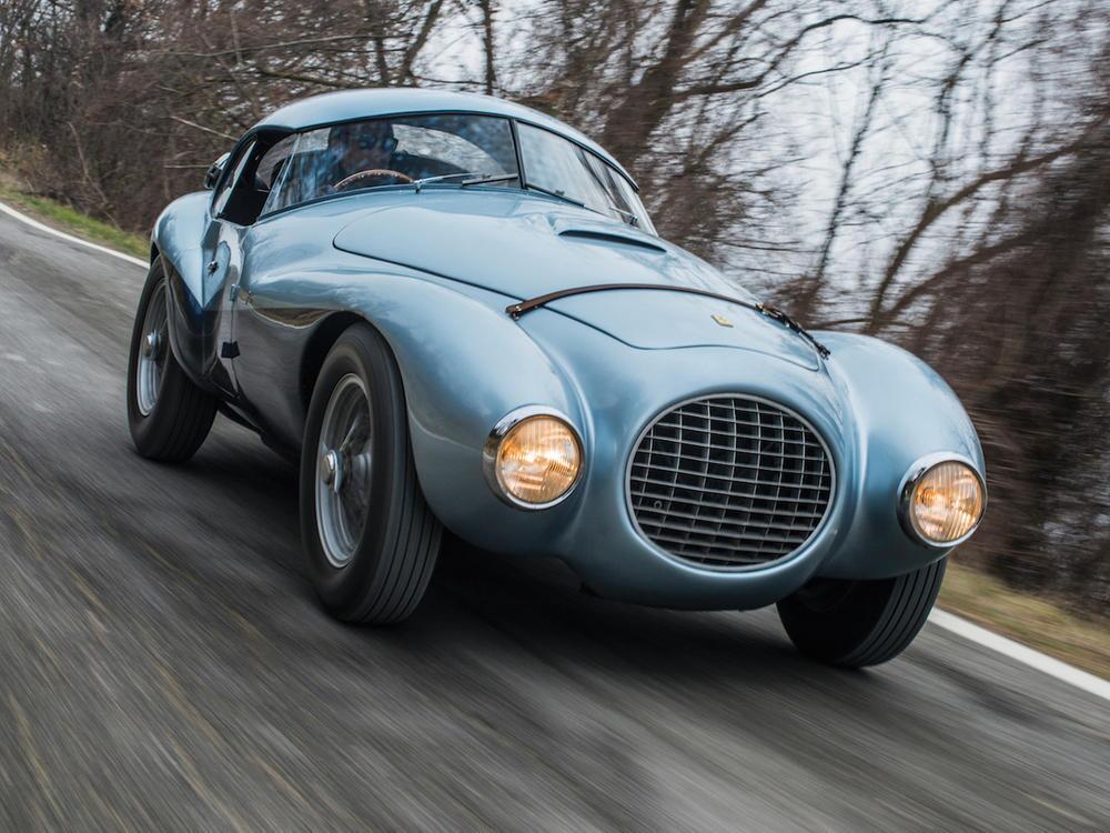 "Bild zu Ferrari 166 MM/212 Export ""Uovo"" by Fontana mit bewegter Historie"