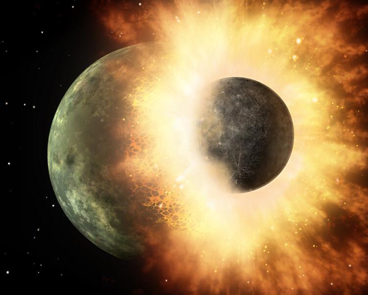 Bild zu Planetenkollision