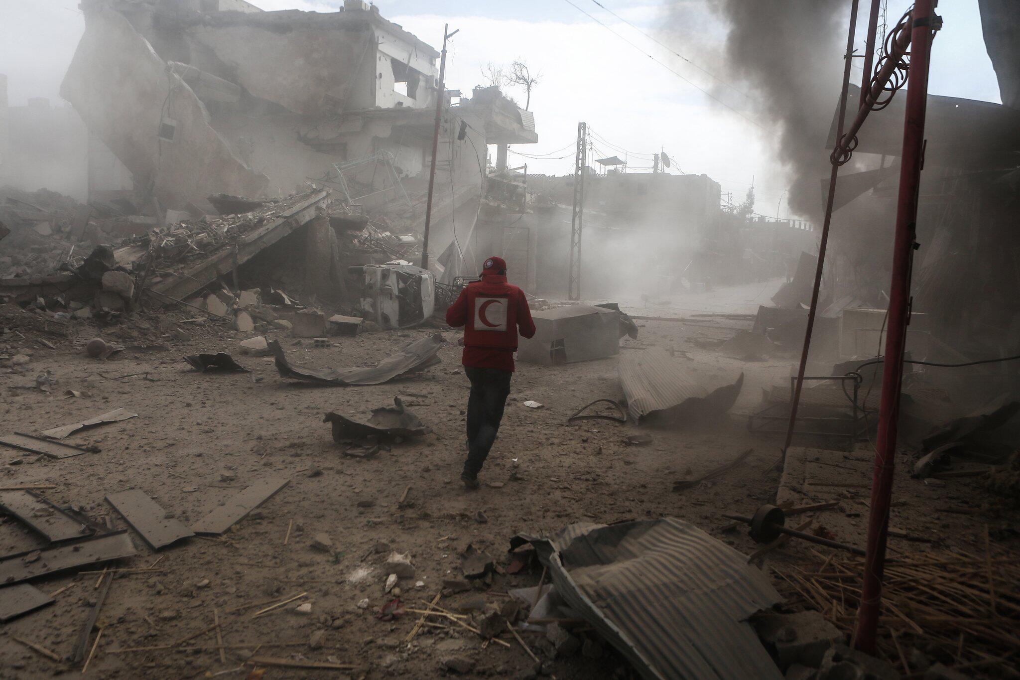 Bild zu Angriffe in syrischem Rebellengebiet bei Damaskus