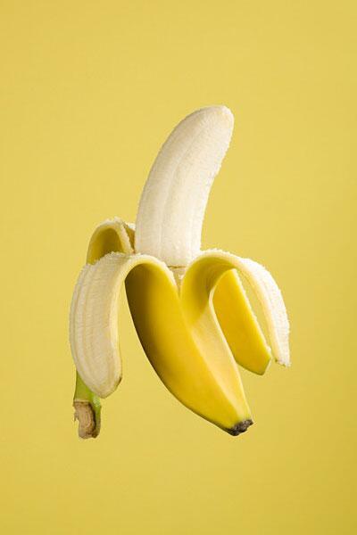 Bild zu geschälte Banane