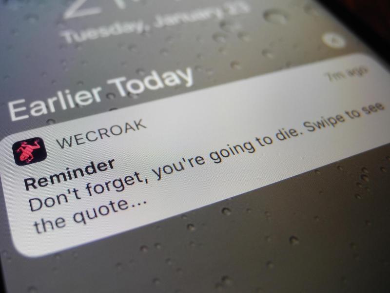 Bild zu App «WeCroak»