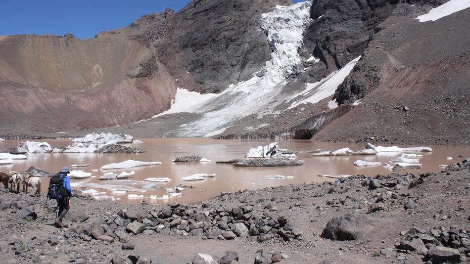 Ein Gletschersee in Chile