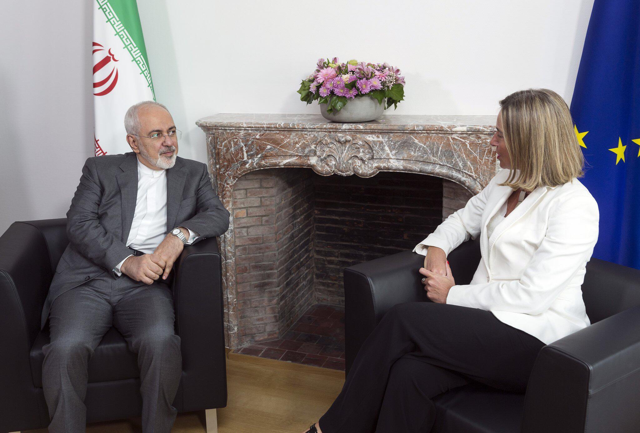 Bild zu Iranischer Außenminister in Brüssel