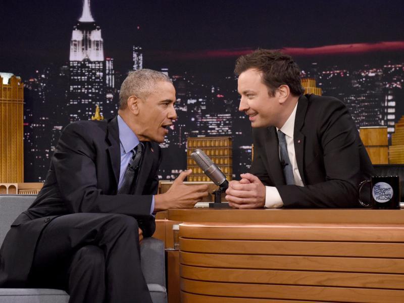 Bild zu Obama bei der Tonight Show