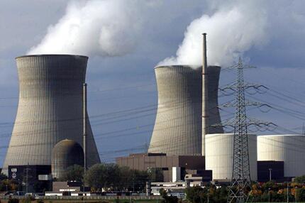 Blick auf das Atomkraftwerk Gundremmingen