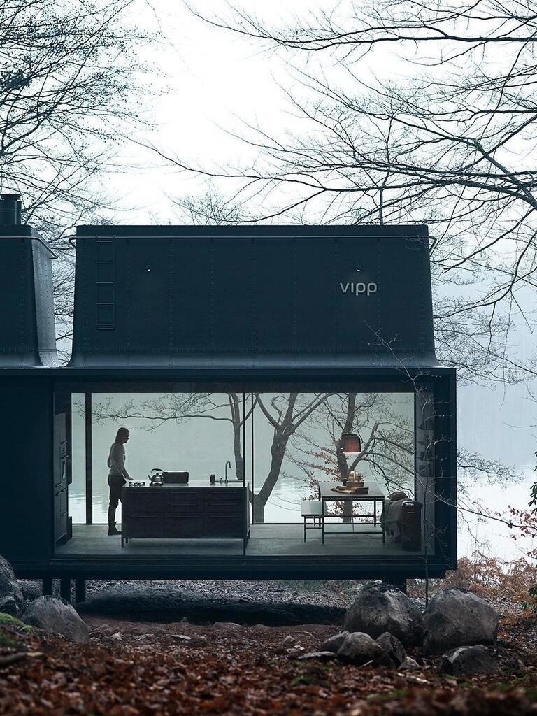 Bild zu Design-Haus in der Natur Dänemarks. Außenansicht.