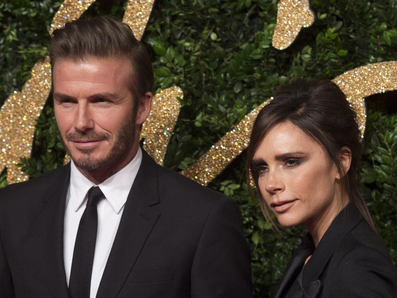Bild zu Victoria & David Beckham