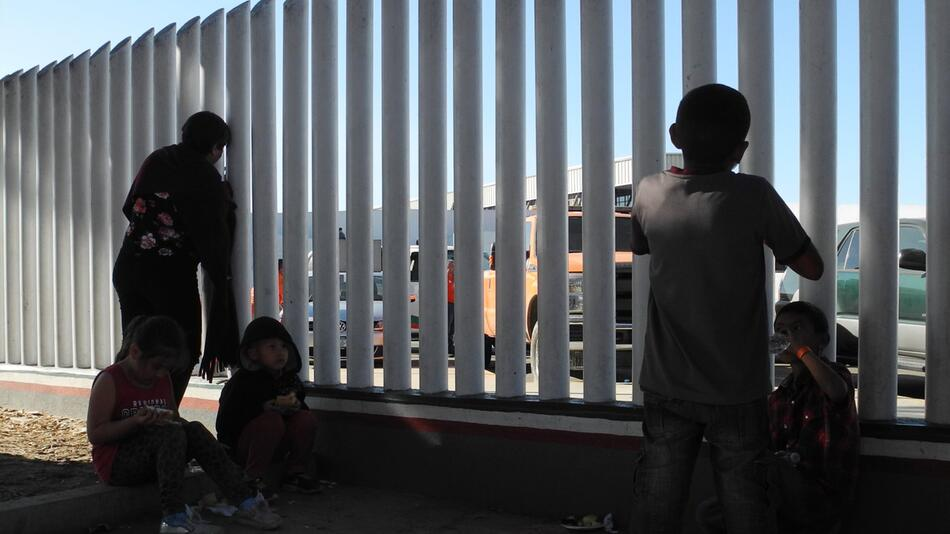 Central American migrants on their way to the USA