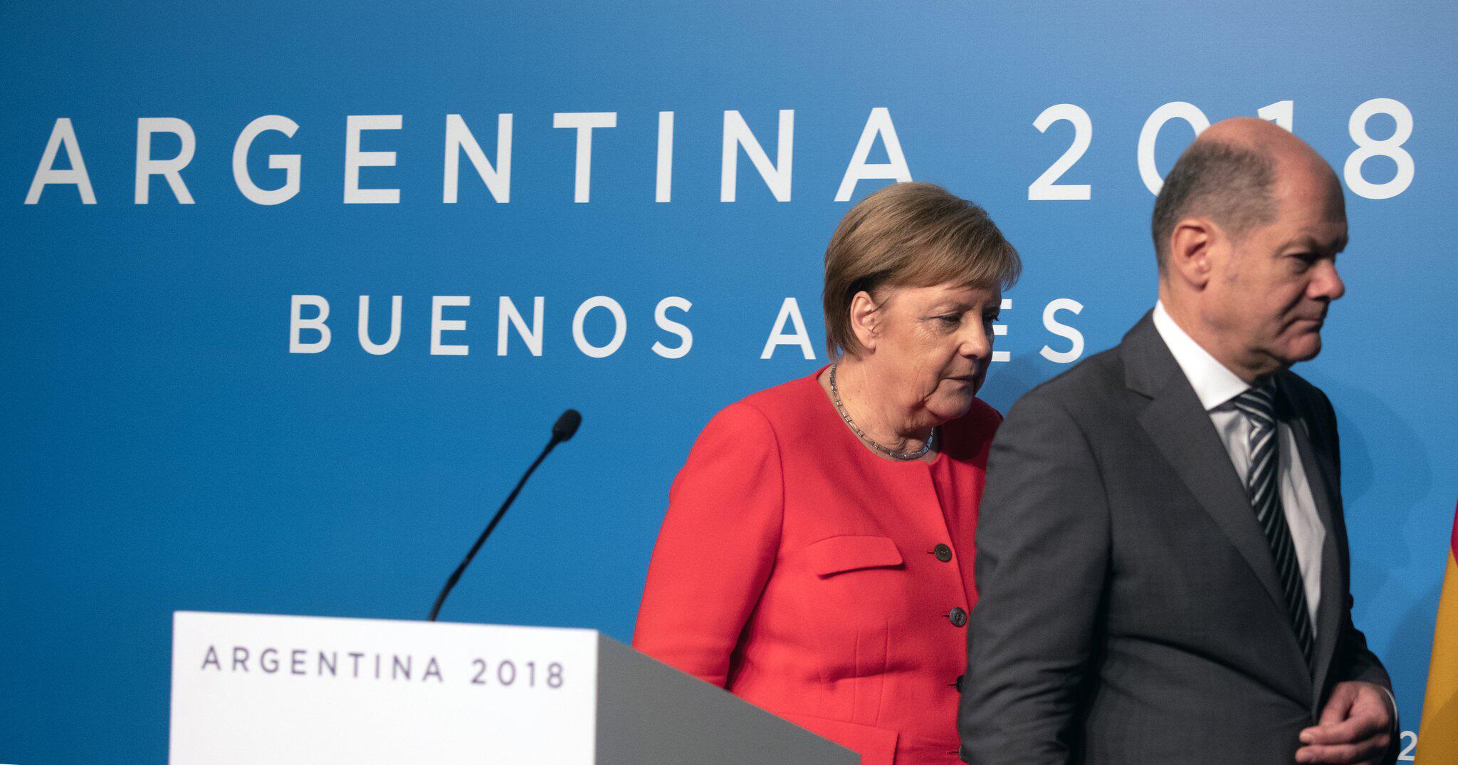 Bild zu G20-Gipfel in Argentinien - Merkel