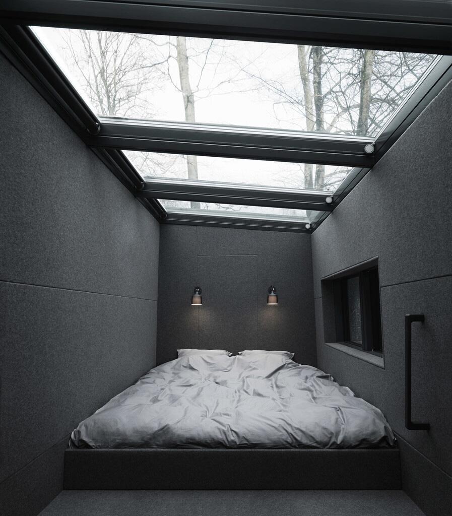 Bild zu Design-Haus in der Natur Dänemarks. Schlafzimmer.
