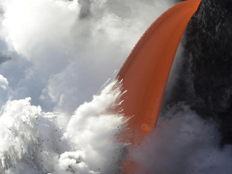 Bild zu Lava-Ströme auf Hawaii